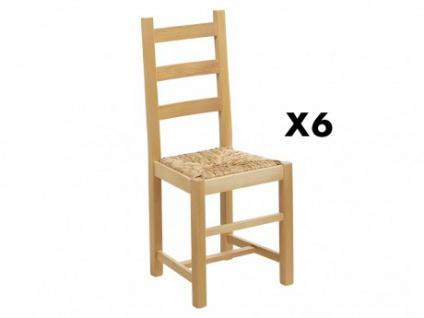 Stuhl 6er-Set Massivholz Farmer