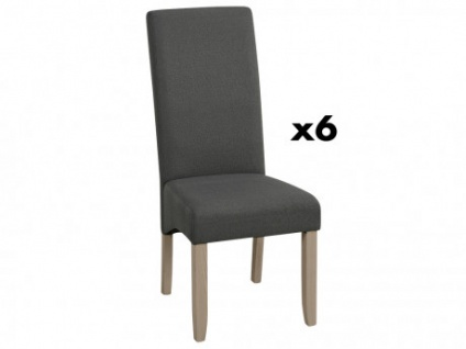 Stuhl 6er-Set Stoff ROVIGO