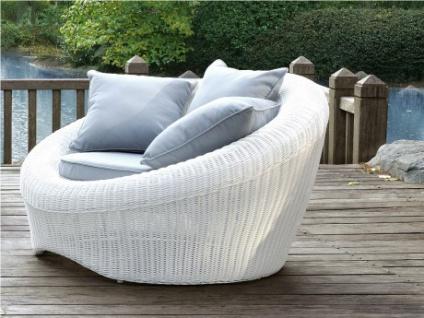 Polyrattan Gartensessel 2er-Set Whiteheaven - Weiß & Grau
