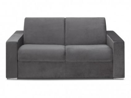 Schlafsofa 2-Sitzer Samt CALITO - Anthrazit - Liegefläche: 120 cm - Matratzenhöhe: 18cm