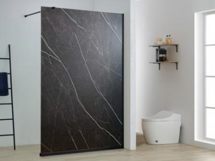 Duschtrennwand Seitenwand italienische Dusche Marmor-Optik ARMANA - 140x200cm