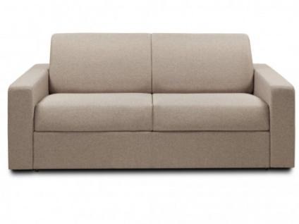 Schlafsofa Stoff Express Bettfunktion mit Matratze 3-Sitzer MANAROLA - Beige