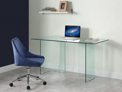 Schreibtisch CLARISSA - Sicherheitsglas