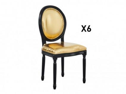 Stuhl 6er-Set LOUIS XVI - Gold