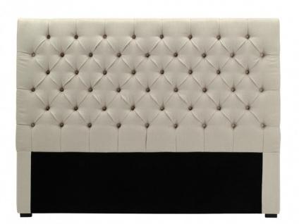 Kopfteil Bett gepolstert Aurele - Breite: 162 cm - Vorschau 2