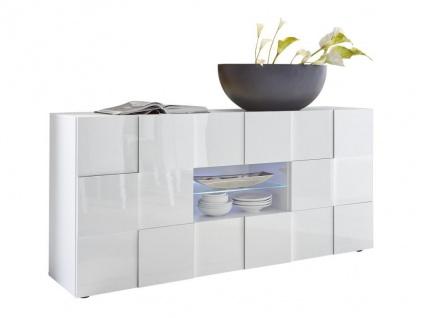 Sideboard mit LED-Beleuchtung CALISTO - Weiß lackiert - Vorschau 5