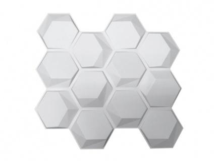 3D Wandpaneel ESSAIM - 1 Pack: 3, 8 m² - Set aus 18 Teilen