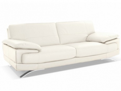 Ledersofa 3-Sitzer Emotion - Luxusleder - Weiß
