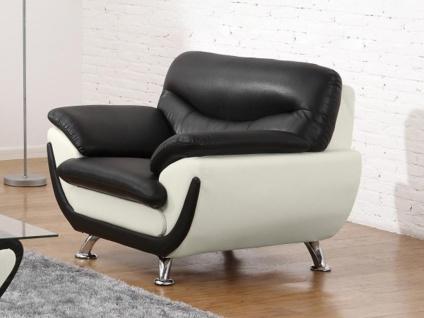 Couchgarnitur 3+1 Indiz - Schwarz & Weiß - Vorschau 5