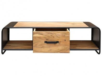TV-Möbel CHICAGO - 1 Schublade & 2 Ablagen - Akazie & Metall - Vorschau 2