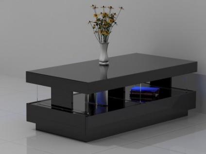 Couchtisch Hochglanz LED Fabio - Schwarz