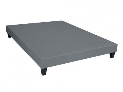 Bettgestell mit Lattenrost Dream - Grau - 160x200cm