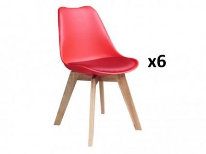 Stuhl 6er-Set Paddy - Rot