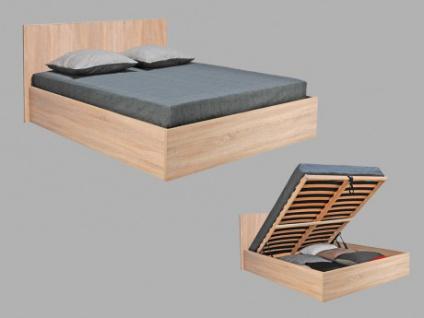 Bett mit Lattenrost & Stauraum Elphege - Eichefarben - 140x190cm