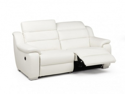 Relaxsofa Incliner Leder elektrisch 3-Sitzer Arena II - Weiß