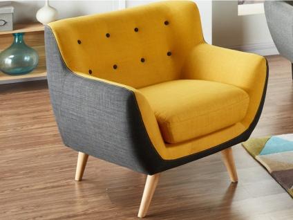 Sessel Stoff Serti - Gelb & Grau