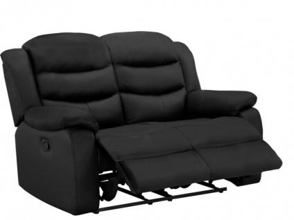 Relaxsofa Leder 2-Sitzer Pliton - Schwarz - Vorschau 3