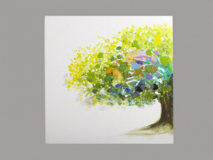 Kunstdruck Öl auf Leinwand Aulne I 100x100 cm