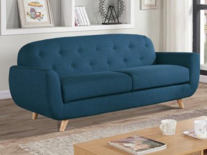 3-Sitzer-Sofa Stoff Roland - Blau