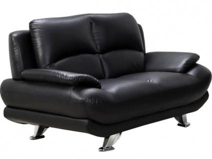 Sofa 2-Sitzer MUSKO - Schwarz - Vorschau 4