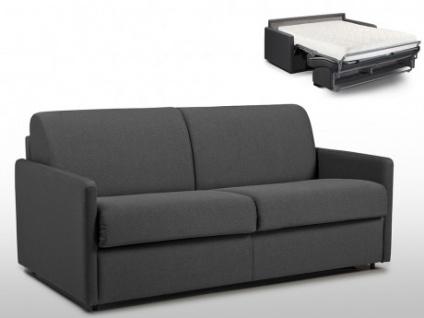 Schlafsofa 3-Sitzer Stoff CALIFE - Grau - Liegefläche: 140 cm - Matratzenhöhe: 18cm