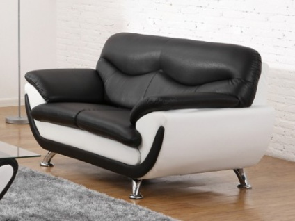 2-Sitzer-Sofa Indiz - Schwarz & Weiß