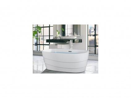 Freistehende Badewanne Design DOMINIKA - 200 L - Weiß