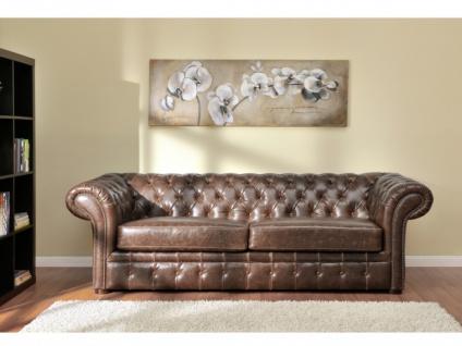 Chesterfield Ledersofa 2-Sitzer CLOTAIRE - Vintage Leder - Braun - Vorschau 3