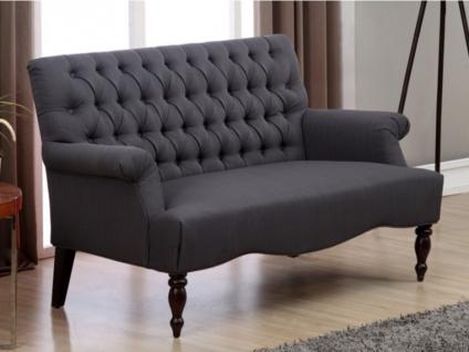 2-Sitzer-Sofa Stoff Barock Manifia - Anthrazit - Vorschau 5