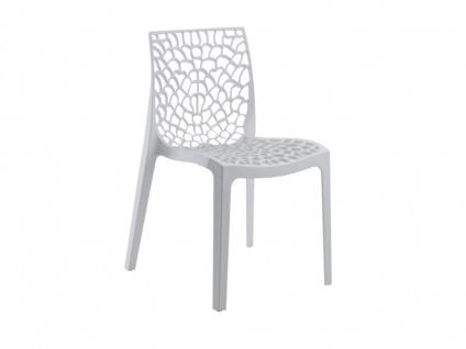 Stuhl 6er-Sets Diadem - Kunststoff - Weiß - Vorschau 2