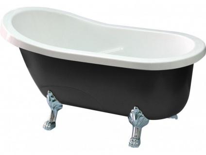 Freistehende Badewanne Egee II - 171 L - Schwarz/Silber - Vorschau 4