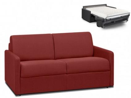 Schlafsofa 2-Sitzer Stoff CALIFE - Rot - Liegefläche: 120 cm - Matratzenhöhe: 18cm