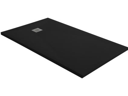 Duschwanne mit Siphon MIRNOS - 1200x900x35mm - Schwarz
