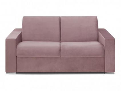 Schlafsofa 2-Sitzer Samt CALITO - Rosa - Liegefläche: 120 cm - Matratzenhöhe: 22cm