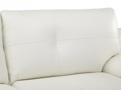 Ledersofa 3-Sitzer Orgullosa- Luxusleder - Weiß - Vorschau 5