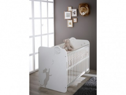 Babybett Kinderbett Catty - Weiß
