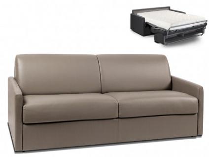 Schlafsofa 4-Sitzer CALIFE - Taupe - Liegefläche: 160 cm - Matratzenhöhe: 18cm