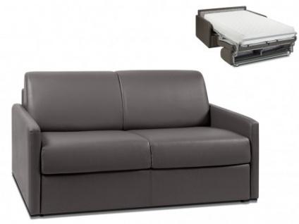 Schlafsofa 2-Sitzer CALIFE - Grau - Liegefläche: 120 cm - Matratzenhöhe: 22cm