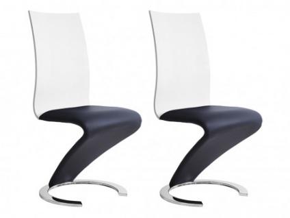 Stuhl 2er-Set TWIST - Schwarz/Weiß