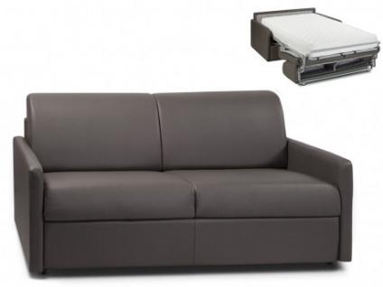 Schlafsofa 3-Sitzer CALIFE - Grau - Liegefläche: 140 cm - Matratzenhöhe: 22cm