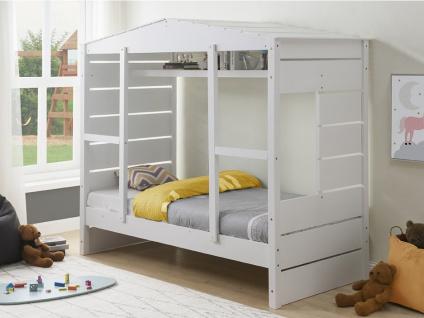 Kinderbett Hausbett MARCO - 90x190cm - Weiß