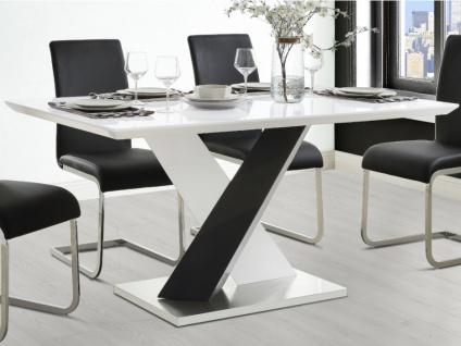 Esstisch SALVA - MDF lackiert - Schwarz/Weiß
