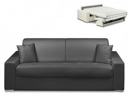 Schlafsofa 4-Sitzer EMIR - Schwarz - Liegefläche: 160cm - Matratzenhöhe: 18cm