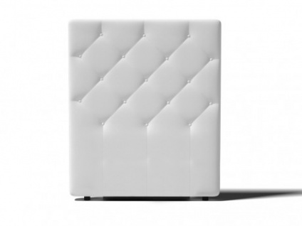 Kopfteil Bett gepolstert Enza - Breite: 92 cm - Weiß