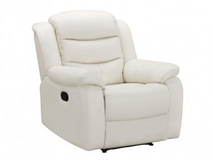 Relaxsessel Fernsehsessel Leder Pliton - Elfenbein - Vorschau 4
