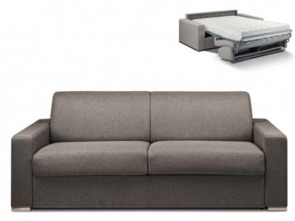 Schlafsofa 4-Sitzer Stoff CALITO - Anthrazit - Liegefläche: 160 cm - Matratzenhöhe: 18cm