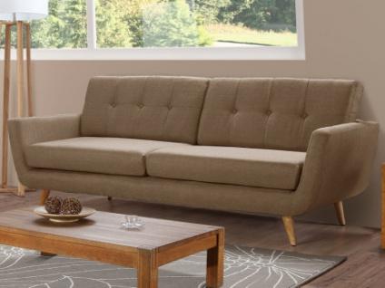 3-Sitzer Sofa Stoff Keiko - Beige