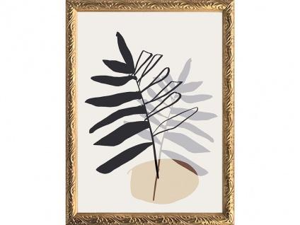 Kunstdruck gerahmt 3er-Set BROWNY - 30 x 40 cm, 60 x 80 cm, 40 x 50 cm - Braun, Beige & Rosa