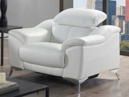 Relaxsessel Fernsehsessel elektrisch DALOA - Weiß