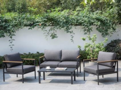 Garten-Sitzgruppe VAIRAO - Aluminium - Sofa, 2 Sessel & Beistelltisch